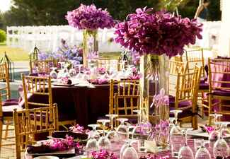 Purple Submerged Orchid Centerpieces