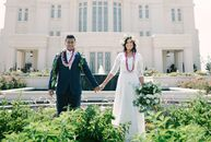 After meeting on Tinder, Kourtney Finch (23 and a receptionist) bonded with Fonoivasa Mata'afa (22 and a solar panel engineer) over their love of laug