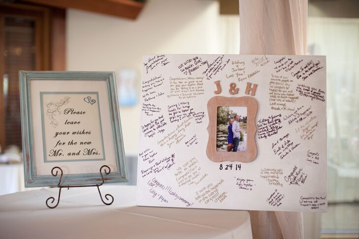 Engagement Picture Frame Guest Book