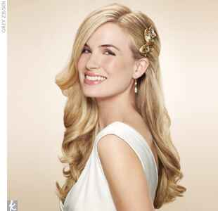 #7 Wedding Hair Accessory: Gilded Comb