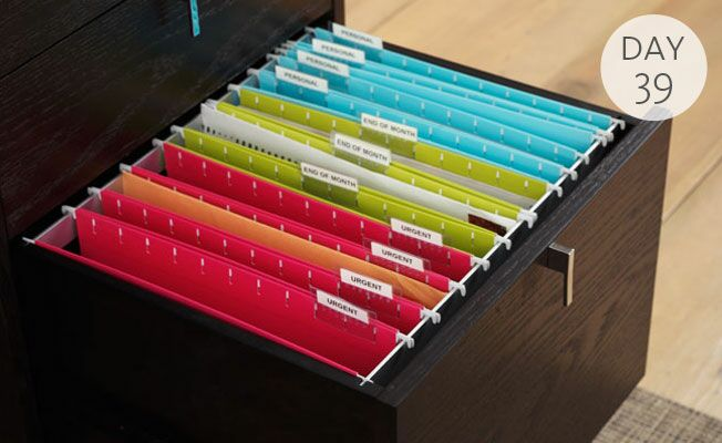 Organization Tip Of The Day Color Code Your Filing System