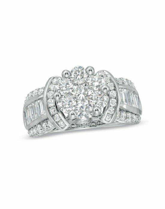 Zales 2-1/4 CT. T.W. Diamond Cluster Engagement Ring in 14K White Gold  19361385 Engagement Ring photo