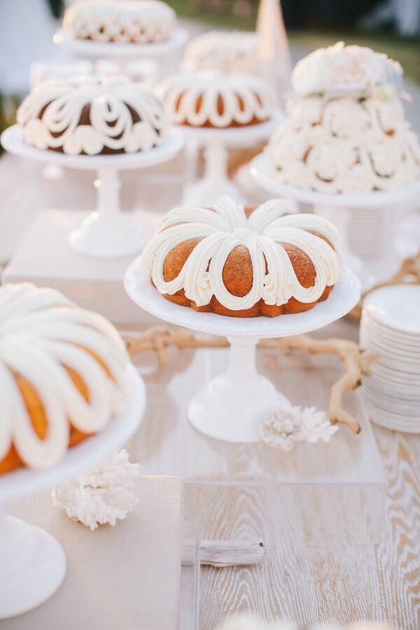 Diverse Dessert Selection Mini Cakes