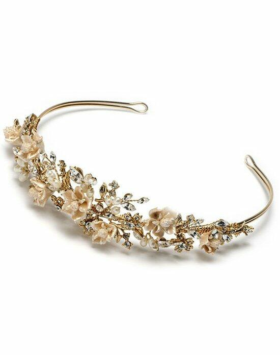 USABride Champagne Flower Gold Bridal Tiara TI-394-G Wedding Tiaras photo