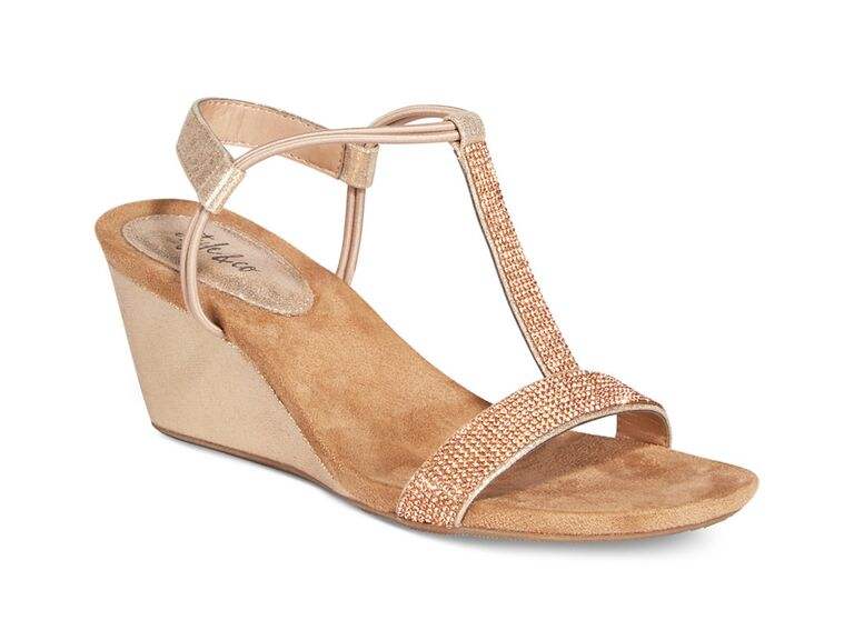 Style Co Blush Wedding Wedges