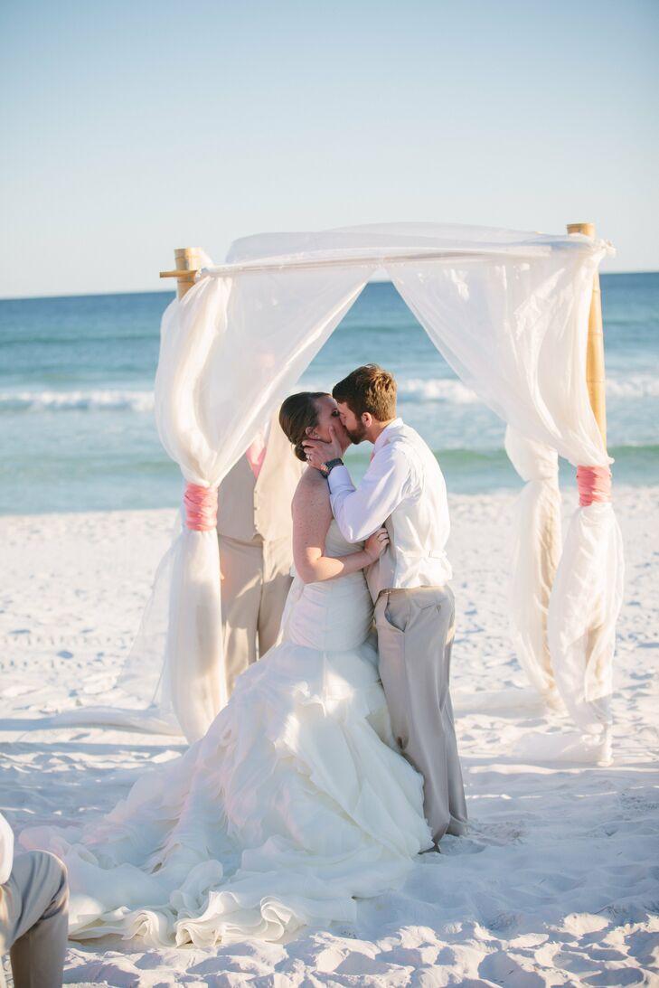 a beach wedding in miramar beach fl