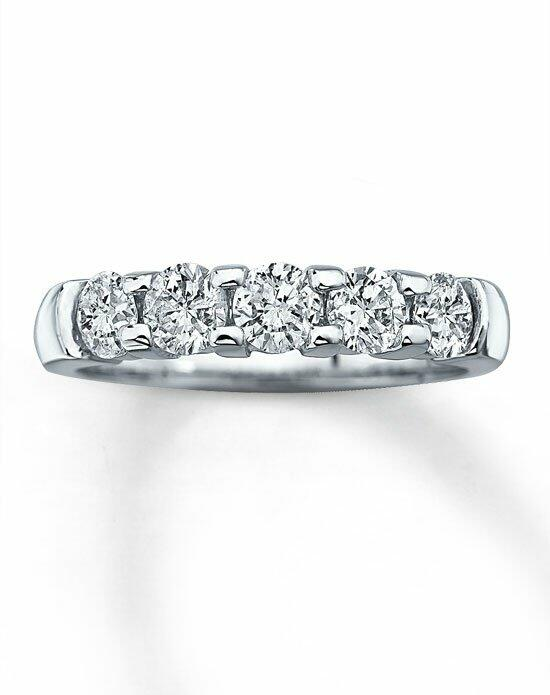 Kay Jewelers Diamond Band 14K White Gold 5 Stone 1ct tw -530796301 Wedding Ring photo