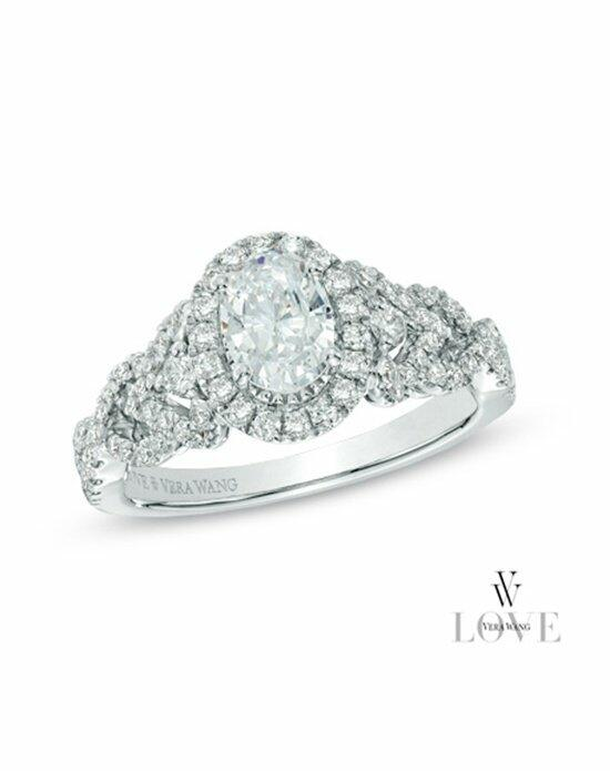 Vera Wang LOVE at Zales Vera Wang LOVE Collection 1 CT. T.W. Oval Diamond Frame Engagement Ring in 14K White Gold  19959573 Engagement Ring photo