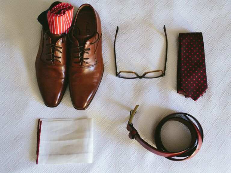 Groom's wedding day accessories