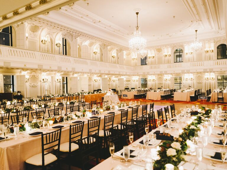 9 ways to pull off a glamorous wedding black and white wedding reception decor junglespirit Image collections