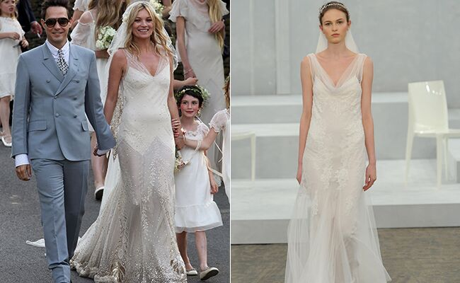 Kate Moss: Getty / TheKnot.com