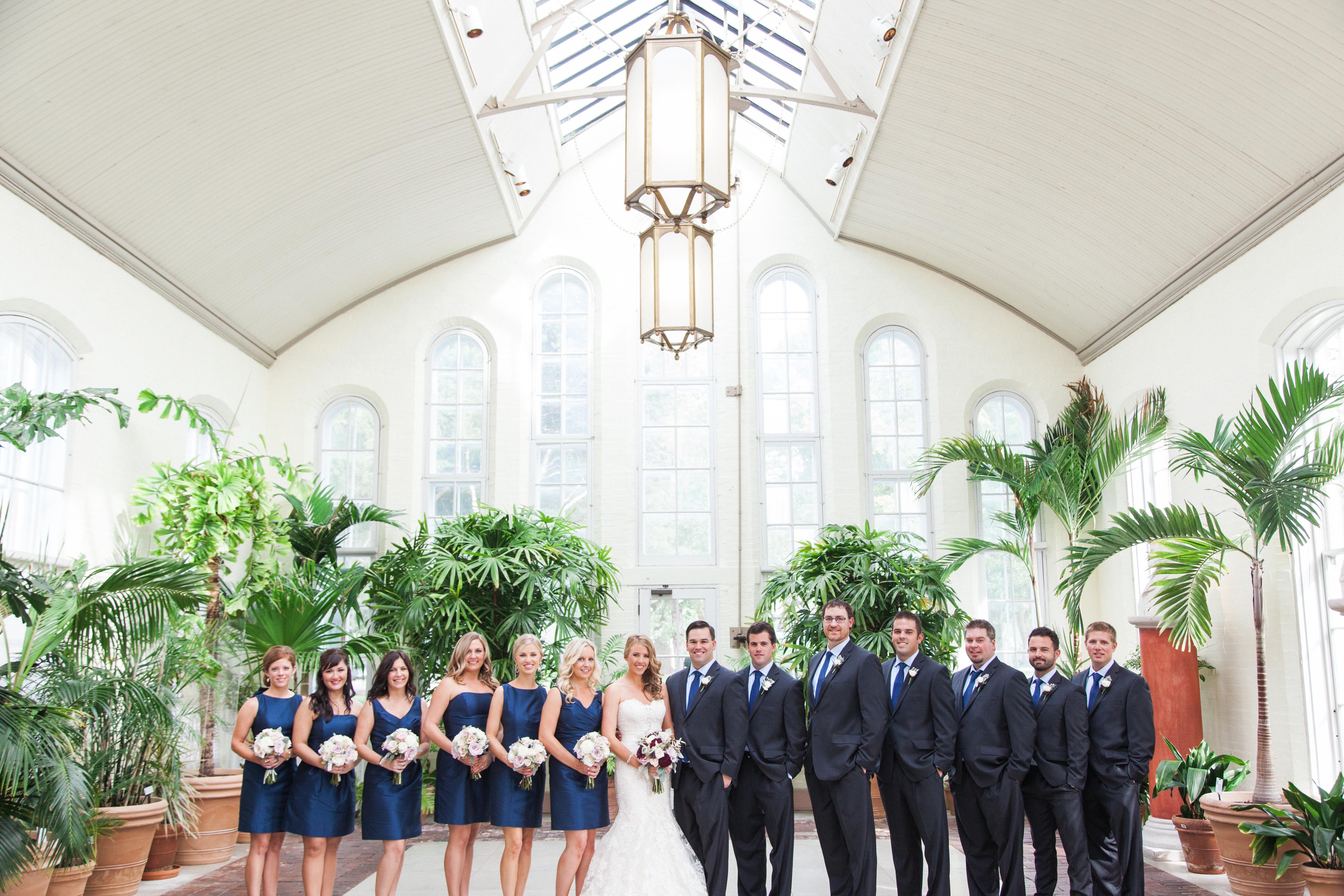 Navy Bridesmaid Dresses Charcoal Groomsmen Suits