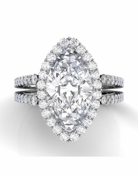 Danhov Carezza Double Shank Marquise Engagement Ring photo