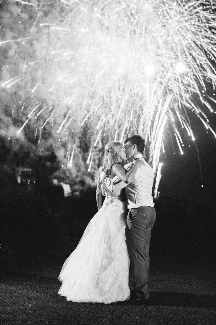"""Right as we cut into the cake we had a fireworks show over the Ocean Course, which was coordinated with a few of our favorite songs including 'I Will Wait' by Mumford and Sons,"" Nicole says."