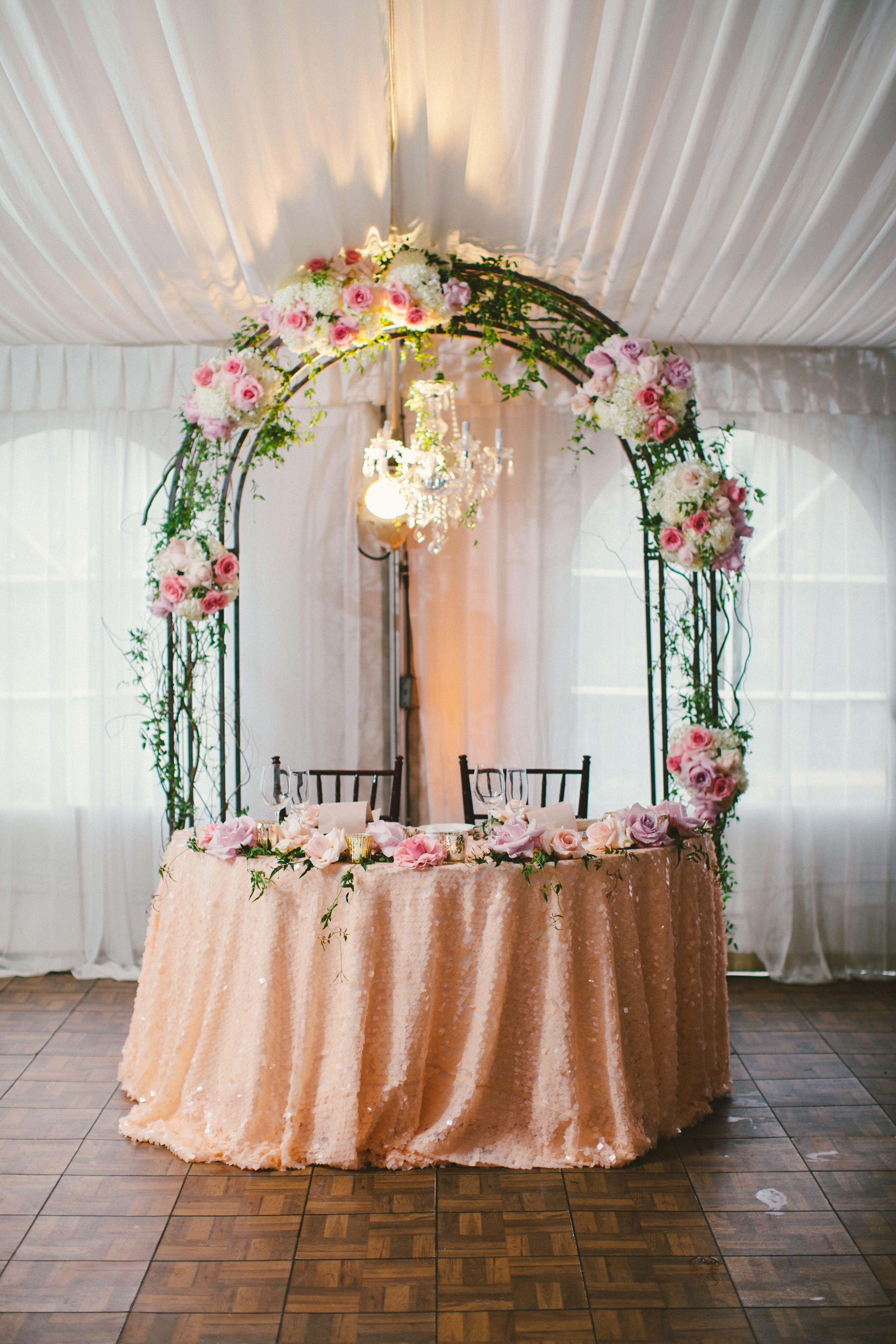 Romantic Pink Sweetheart Table
