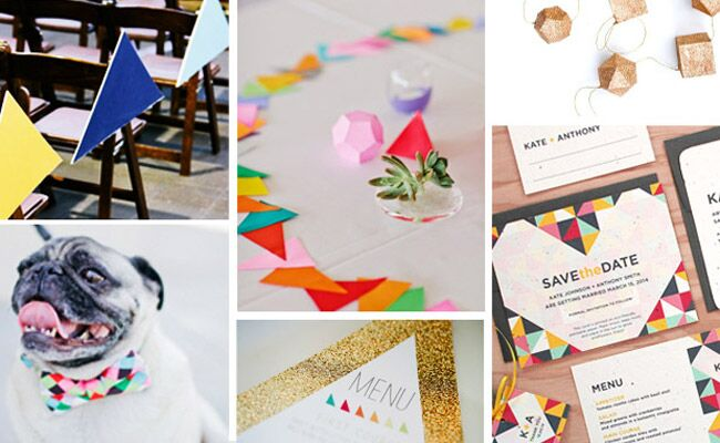 10 Mod Geometric Wedding Ideas (Trend Alert!)