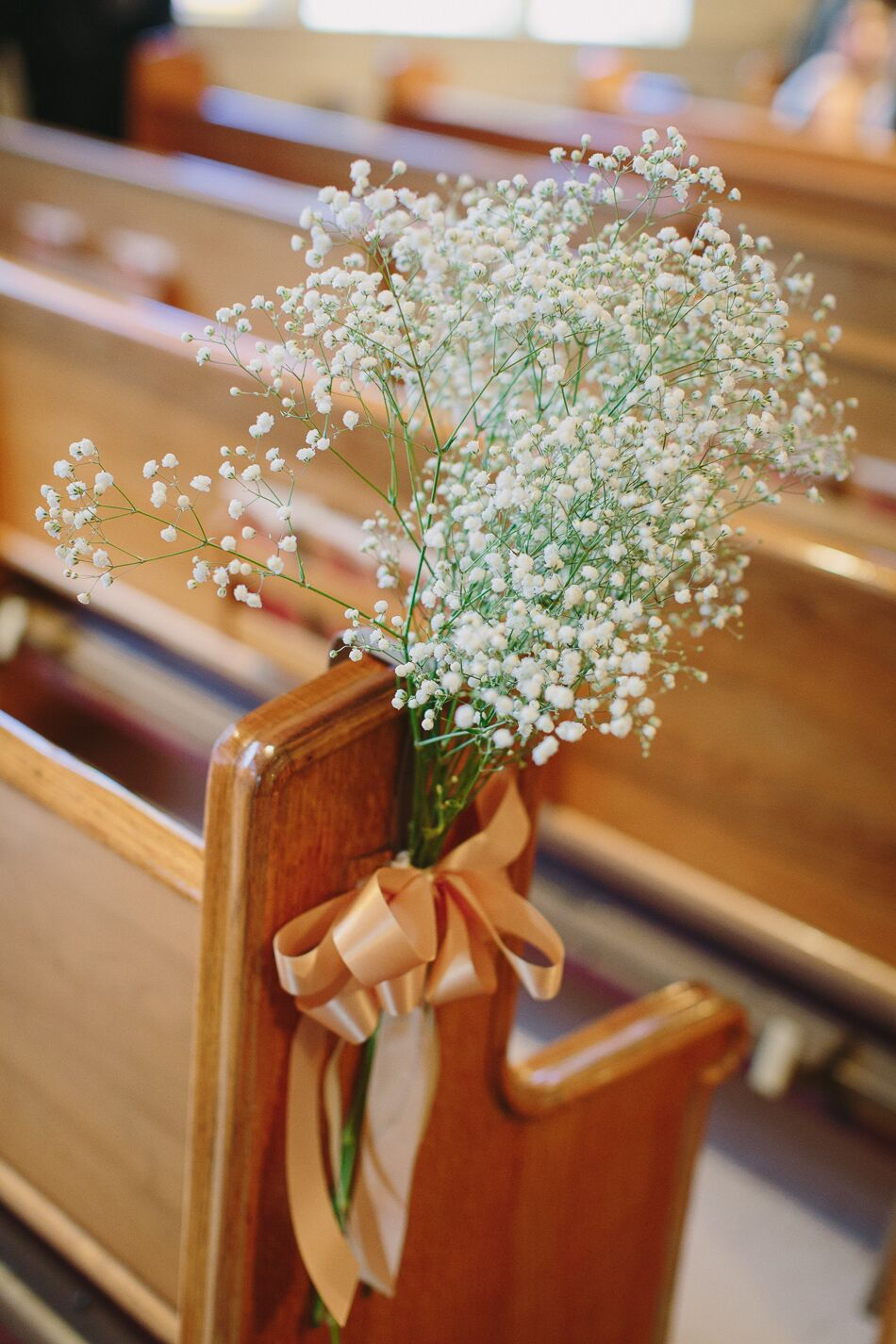 Baby S Breath Aisle Pew Decorations