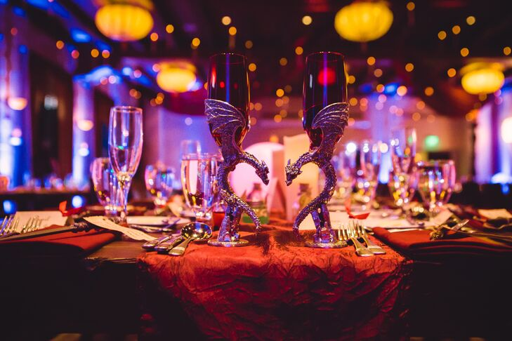 Harry Potter-Inspired Head Table at Hotel Andaluz Wedding Reception