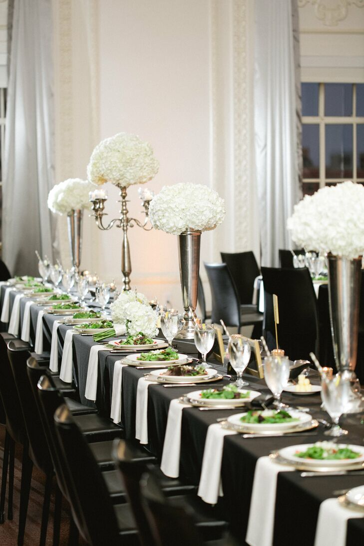 black and white wedding decorations reception an formal wedding in tulsa ok 1823