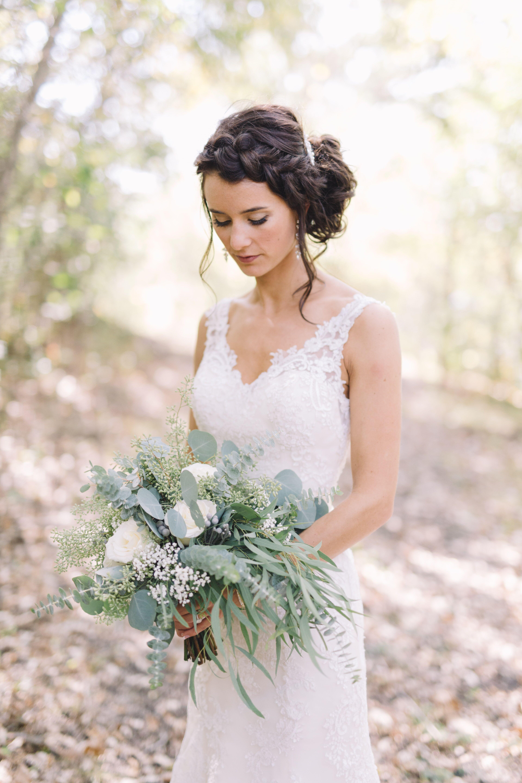 Loose-Braid Bridal Hairstyle