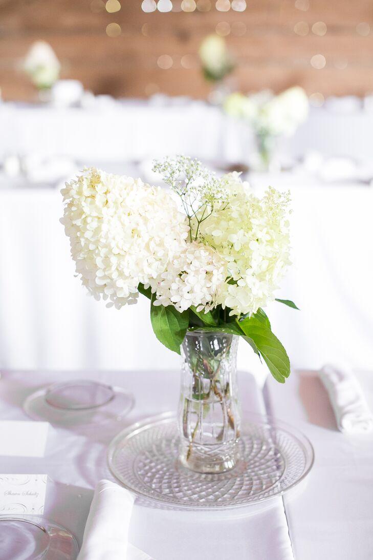 Modern White Flower Centerpieces