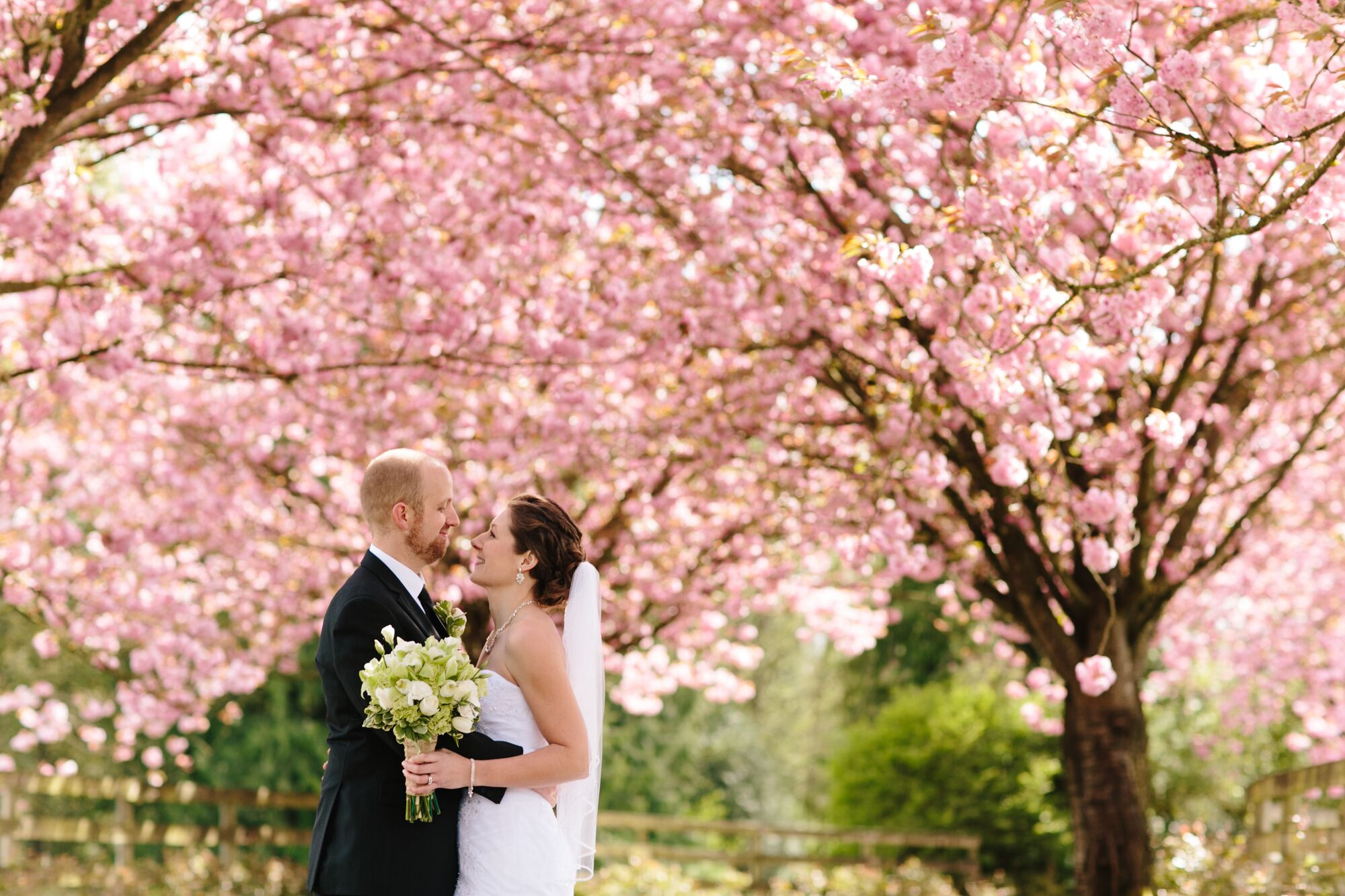 Spring Black and White Wedding Photos