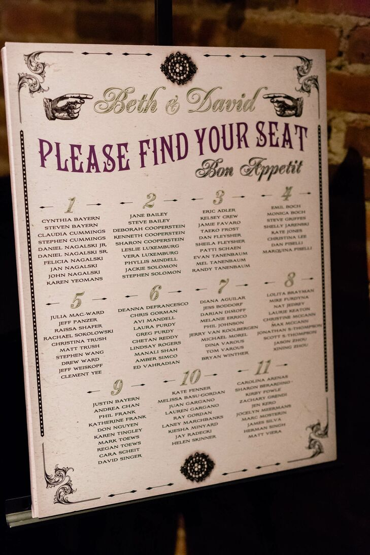 Vintage-Inspired Seating Chart