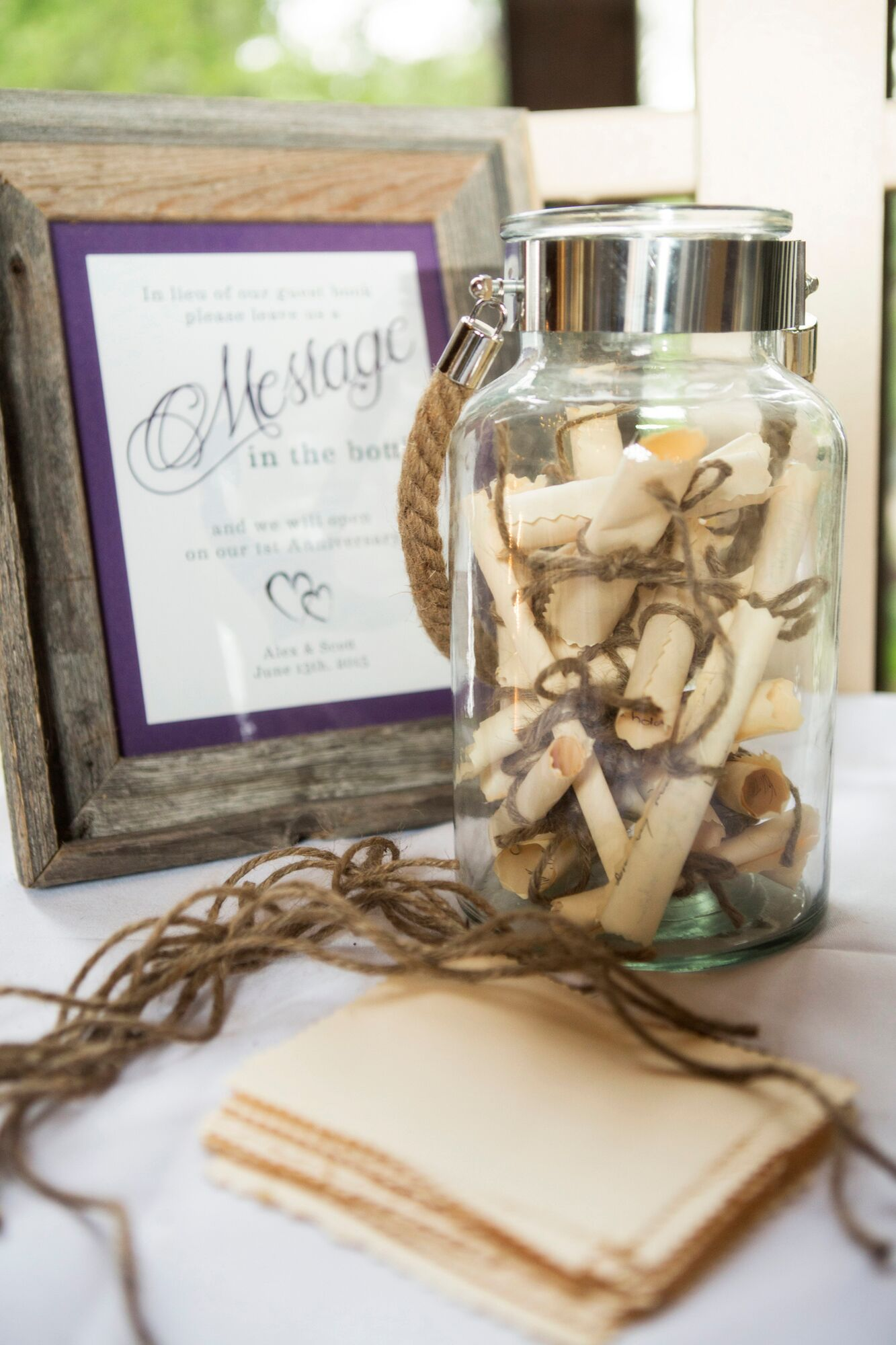 Message in a Bottle Nautical Guest Book