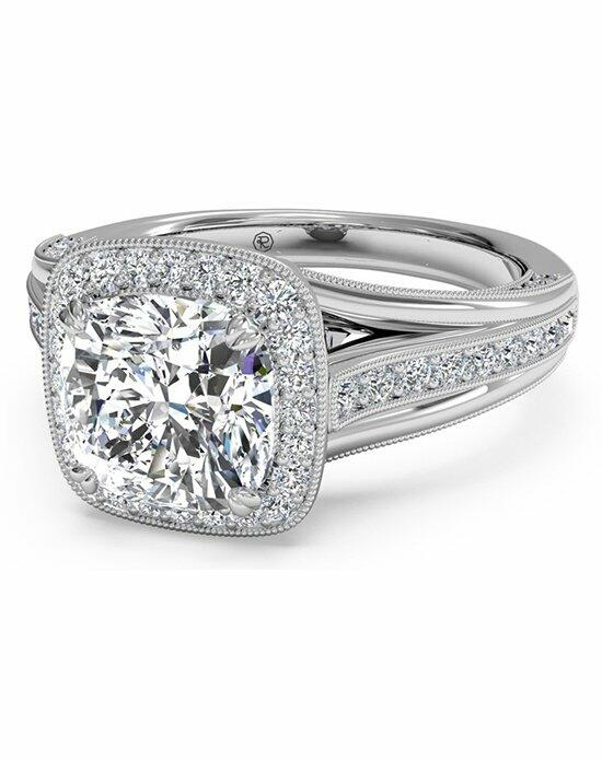 Ritani Masterwork Cushion Halo Vaulted Milgrain Engagement Ring with Surprise Diamonds in 18kt White Gold (0.46 CTW) Engagement Ring photo