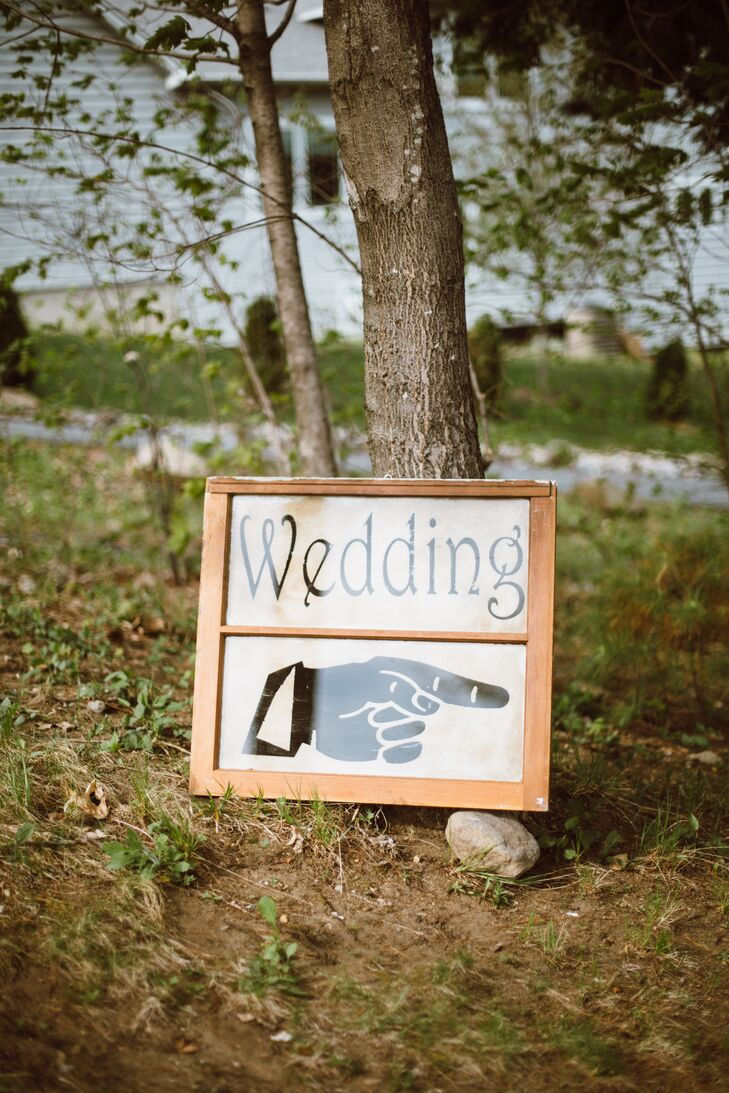 Hand Graphic Wedding Sign