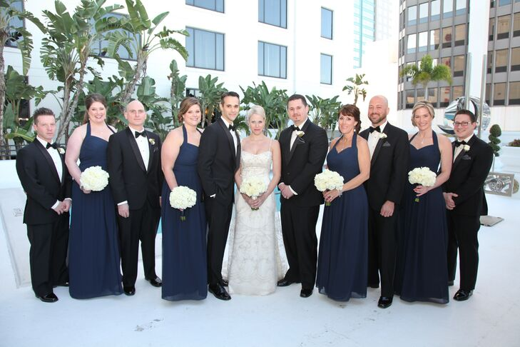 Formal Navy and Black Wedding Party