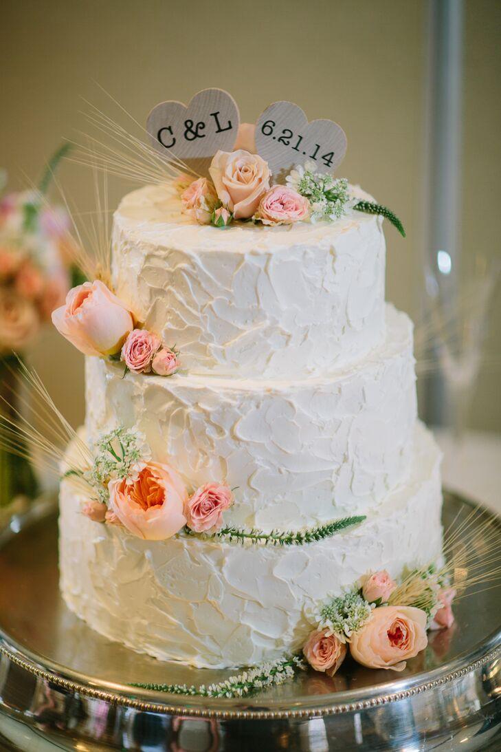 Vanilla Passion Fruit Buttercream Wedding Cake