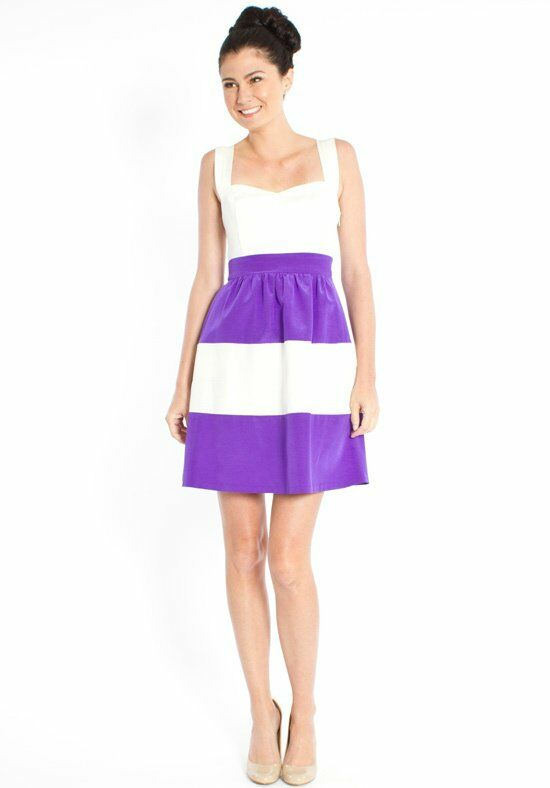 LulaKate Casey Striped Bridesmaid Dress photo