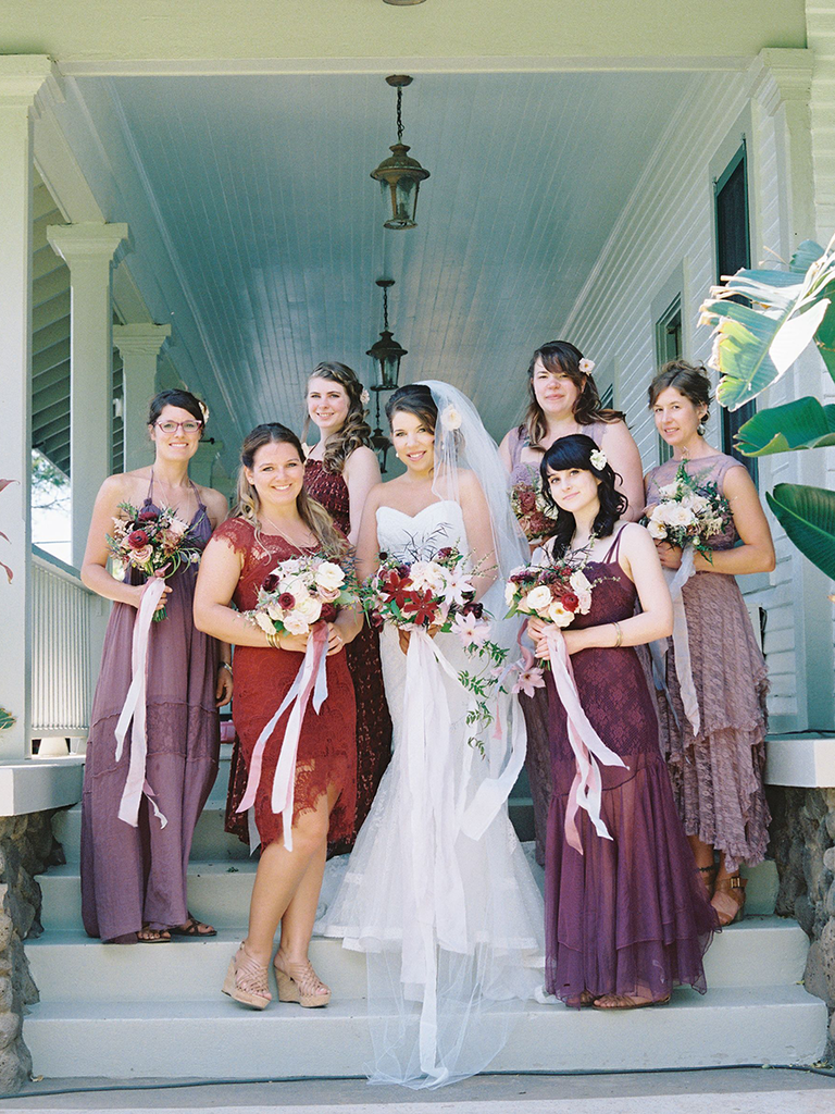 These mismatched bridesmaid dresses are the hottest trend shades of purple mismatched bridesmaid dresses ombrellifo Image collections