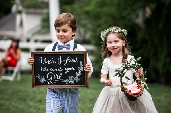 Rustic Wedding Ringbearer and Flower Girl