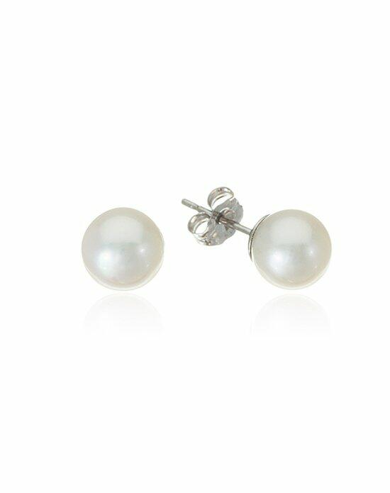 Thomas Laine Freshwater Pearl Studs Wedding Earrings photo