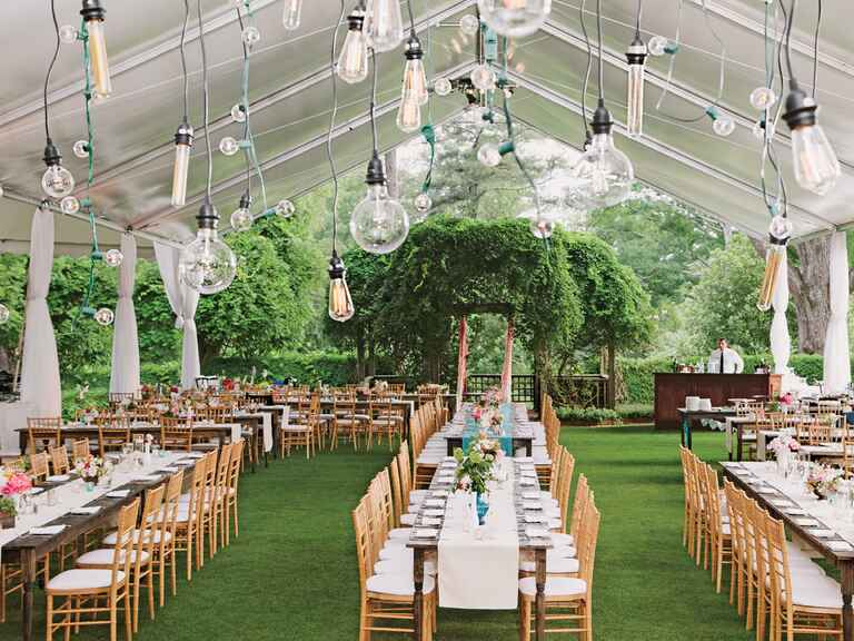 Wedding tent lightbulb ceiling fixture