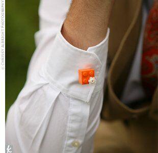 lego wedding cuff links