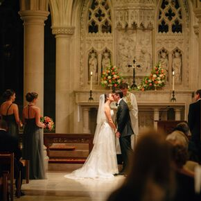 First Kiss At The National Cathedral In Washington D C