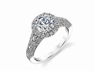 sylvie vintage inspired engagement ring - Vintage Inspired Wedding Rings