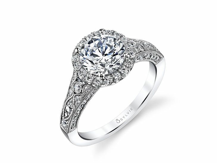 sylvie vintage inspired engagement ring - Vintage Inspired Wedding Rings