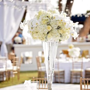 Elegant All White Flower Centerpieces
