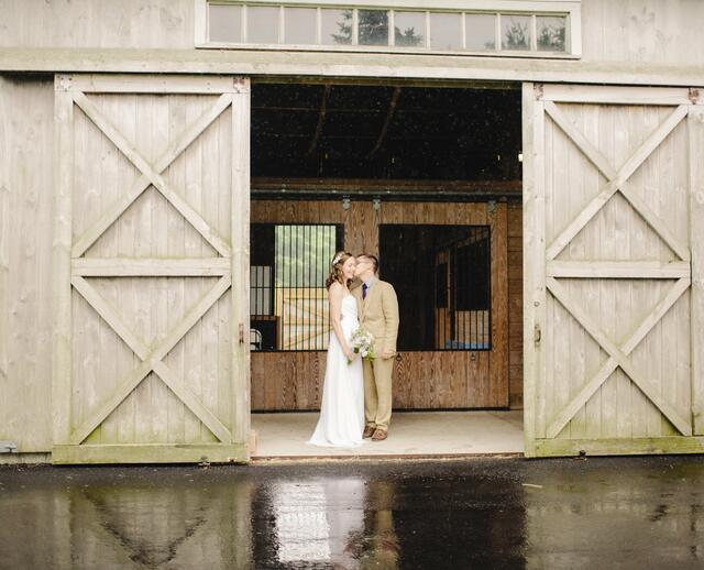 A Outdoor Rustic Wedding In Plymouth MA