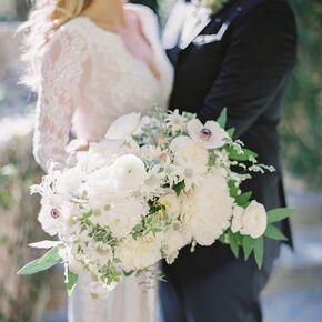Wedding bouquets oversize white ranunculus peony and scabiosa bouquet junglespirit Choice Image