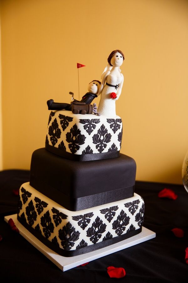 Whimsical Black and White Wedding Cakes + Desserts
