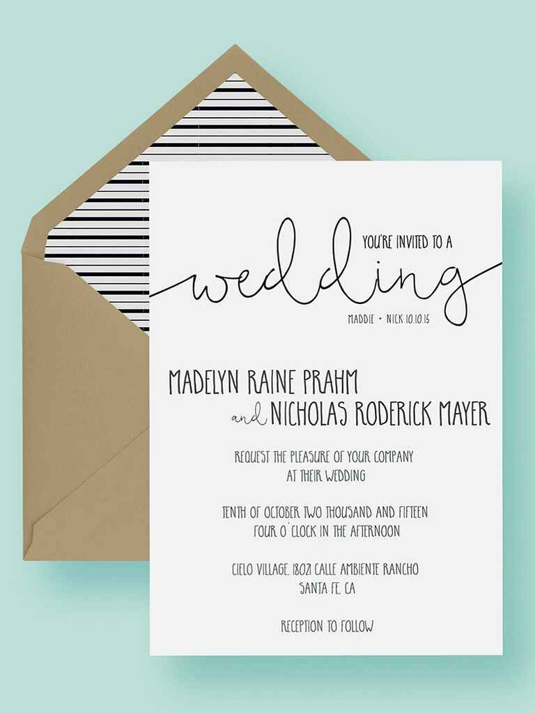 signatures by wedding invitation inserts for
