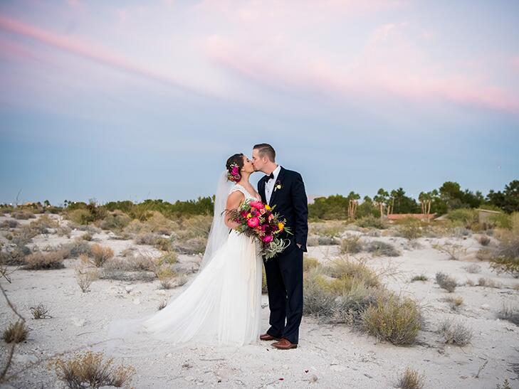 october wedding ceremony at springs preserve in las vegas