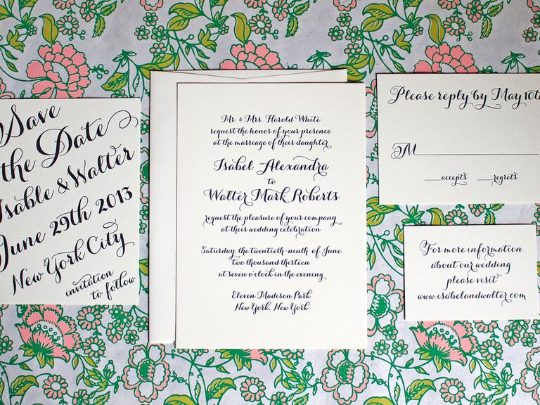 8 hot wedding invitation trends greenwich letterpress handwritten calligraphy wedding invitation stopboris Image collections