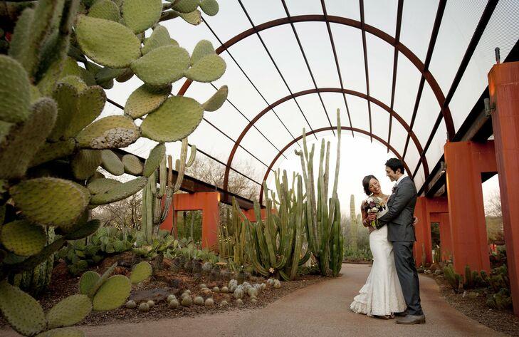 A Desert Botanical Garden Wedding In Phoenix Az