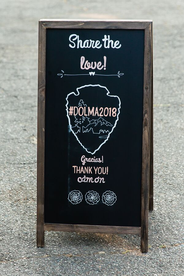 Illustrated Chalkboard Hashtag Sign